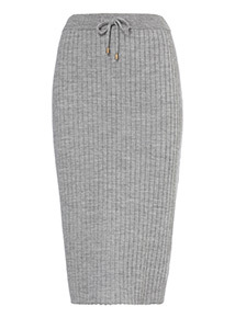 Ribbed Drawcord Skirt
