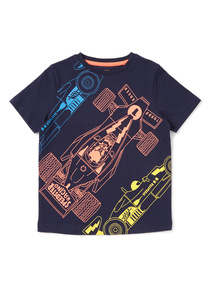 Navy Car Print T-Shirt (9 months-6 years)