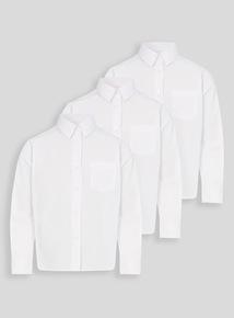 Girls White Non Iron School Shirts 3 Pack (3-16 years)
