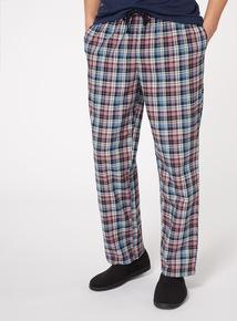 Pink and Blue Check Swill Pyjama Bottoms