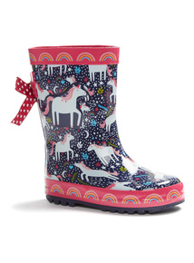 Unicorn Print Welly (6 Infant - 4)