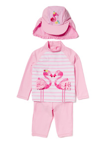 Pink Flamingo Sunsafe Set (0-36 months)