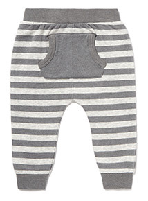 Grey Mask Embroidered Joggers (0-24 months)