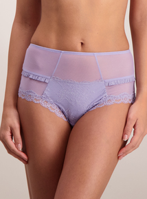 Lilac Luxury Lace Midi Knickers