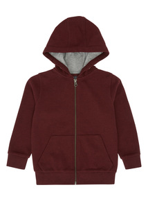 Boys Red Picot Hoody (3-14 years)