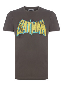 Grey Vintage Batman Tee
