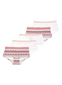 White Five Pack Hello Shorts (5-14 years)