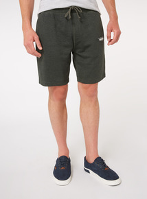 Green Marl Print Shorts