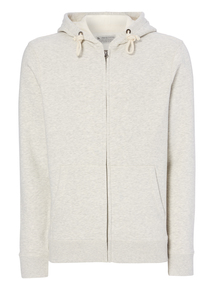 Cream Zip Through Hoody