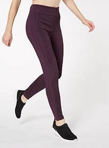 Purple Stripe Active Legging
