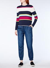 Multicoloured Multi Stripe Ripple Jumper