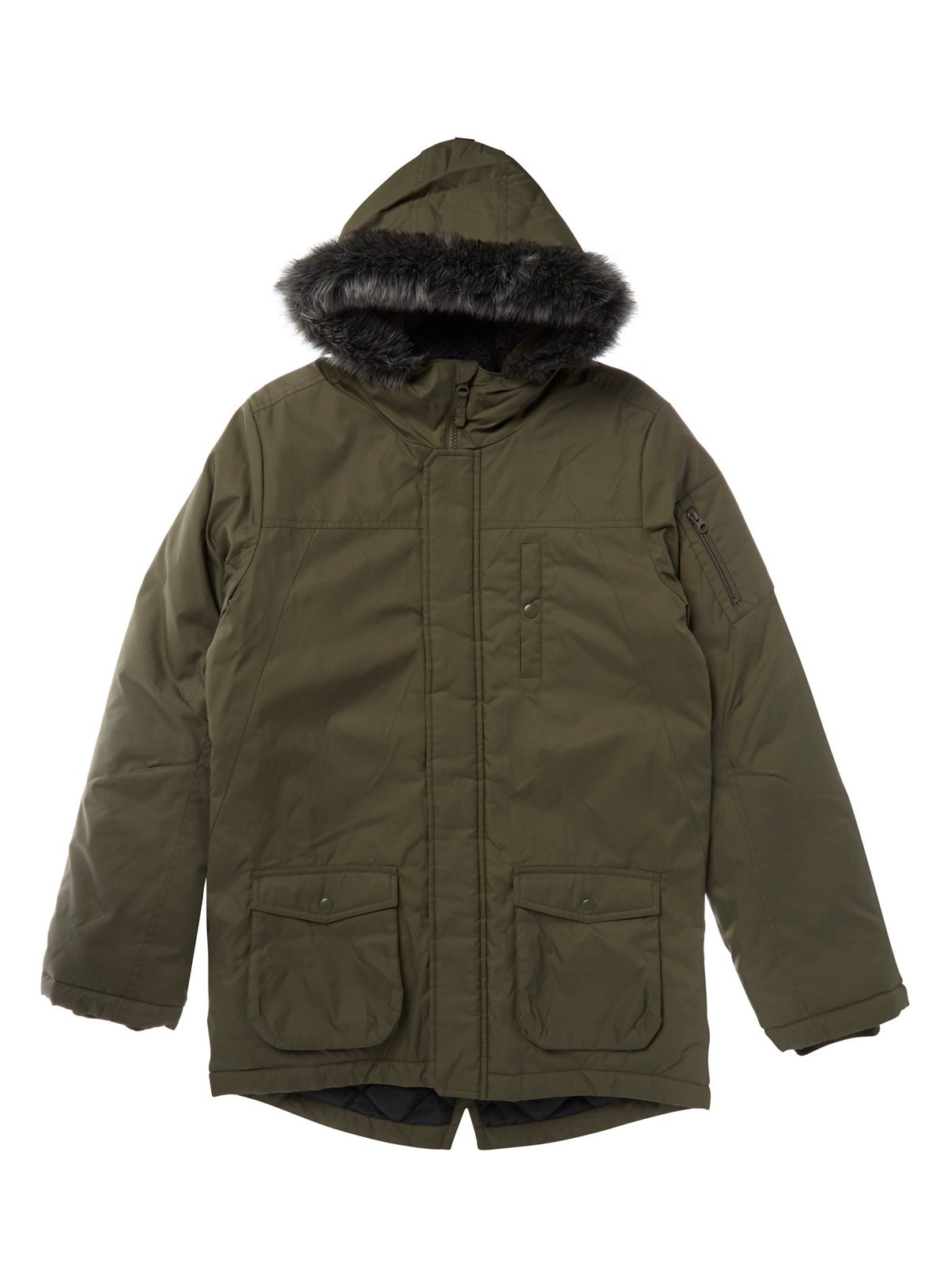 Kids Khaki Parka Jacket (3-14 years) | Tu clothing