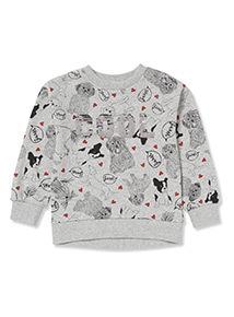 Grey French Dog Sweatshirt (3-14 years)