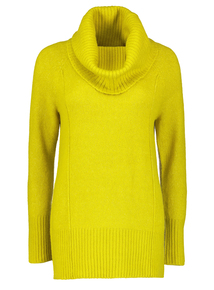 Lime Green Cowl Neck Jumper
