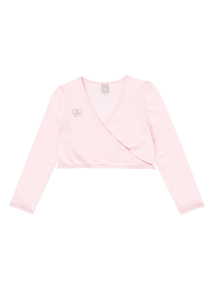 Girls Pink Ballet Wrap Cardi (2-10 years)