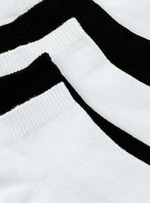 Black & White Trainer Socks 5 Pack