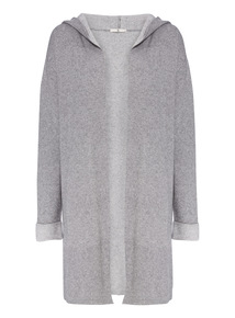 Grey Hooded Coatigan