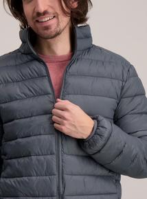 Grey Thermolite Lightweight Puffer Jacket