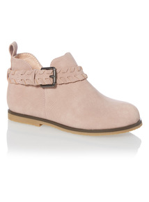 Girls Pink Low Ankle Boots
