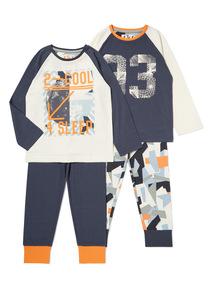 2 Pack Grey 2 Cool 4 Sleep Pyjamas (4-14 years)