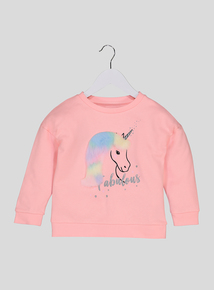 Pink Unicorn Sweatshirt (3-14 years)
