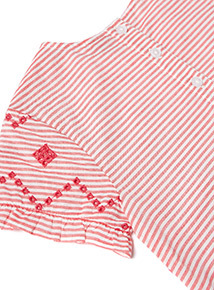 Red Embroidered Top (3-14 years)