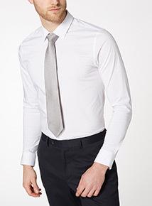 Silver Textured Tie