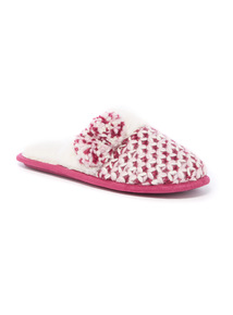 Knitted Pompom Mule Slipper