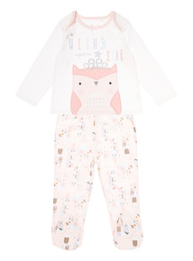 Pink Wish Upon A Star Pyjama Set (0-24 months)
