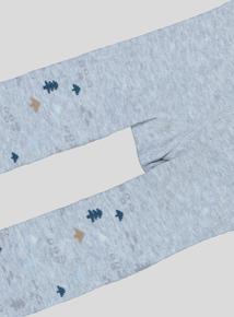 Grey Moose Print Long Johns (0-24 months)