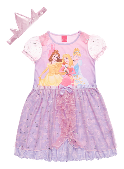 All Girl\'s Clothing Girls Pink Disney Princess Dress Up Nightie (2 ...