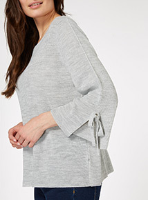 Tie Sleeve Swing Jumper