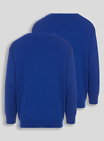 Unisex Blue V-Neck Jumpers 2 Pack (3-12 years)