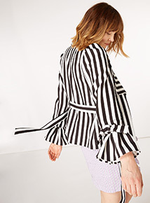 GFW Stripe Belted Jacket
