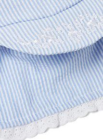 Blue Striped Sunhat (0-2 years)