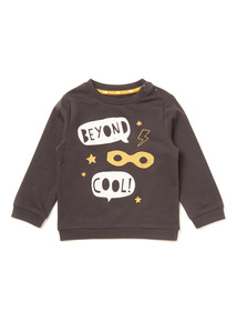 Grey Slogan Sweatshirt (0-24 months)