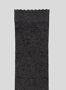 Grey Knee High Sock 5 Pack