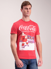 Online Exclusive Coca Cola Red Christmas Holiday T-Shirt