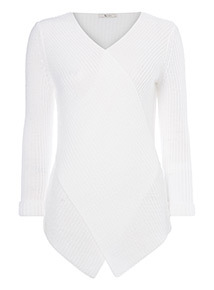 Knitted Cross-Front Jumper