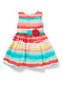 Multicoloured Stripe Occasion Dress (9 months-6 years)