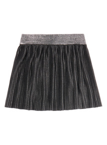 Girls Grey Pleated Shimmer Skirt (3-14 years)