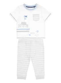 Grey Tee And Jogger Set (0 - 12 months)