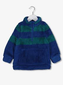 Blue & Green Stripe Half Zip Fleece (1-6 years)