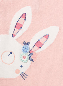 Pink Knitted Bunny Jumper (0-24 months)