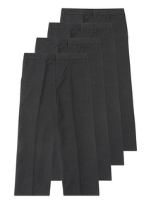 Boys Grey Woven Trousers 4 Pack (3-12 Years)