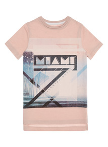 Boys Pink Miami T-shirt (3 - 12 years)