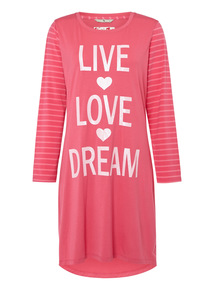 Pink Live Love Dream Nightshirt