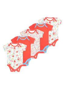 Girls Multicoloured Floral Bodysuit 5 Pack (0-24 months)