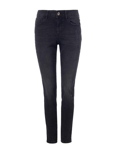 Black Authentic Abrasion Skinny Jean