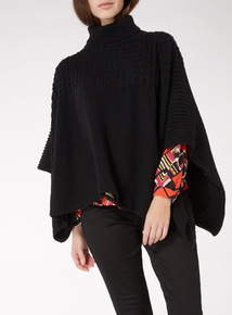 Rolled Neck Poncho